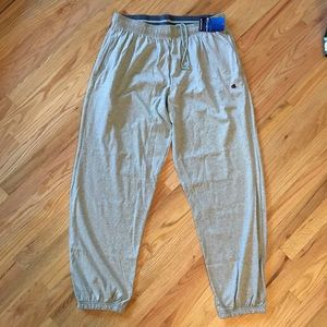 NWT Champion gray jogger sweatpants size XL